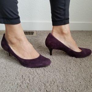 """Cole Haan Nike Air pumps Suede purple 7 2.5"""""""